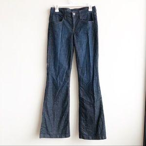 J. Crew | High Heel Flare Dark Wash Jeans